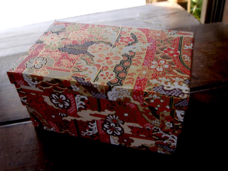 友禅和紙小箱